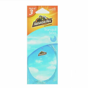 Armorall 3 Pack Hanging Car Home Air Freshener Freshner TRANQUIL SKIES Scent