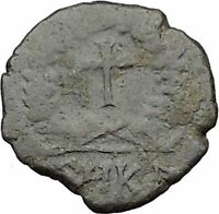 THEODOSIUS II 425AD Ancient Roman Coin CROSS within wreath  i31522