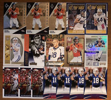 (17) PEYTON MANNING MIXED FOOTBALL CARD LOT AWESOME! INSERTS WOW
