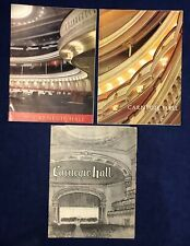 Lot 1960's Carnegie Hall Programs Please View Photos