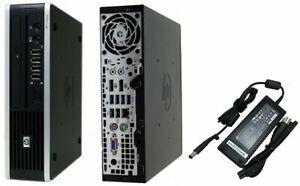 HP Compaq 8300 Elite Ultra-Slim Desktop PC 4GB 500GB HDD Windows 10 Pro WiFi DVD
