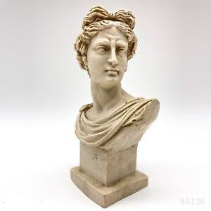 Vintage Apollo von Belvedere Büste Griechische Skulptur Statue - 5,5x16,5cm