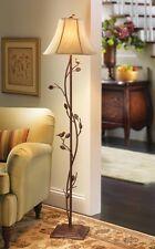 Rustic Spring Summer Perching Birds Antique Finish Floor Lamp Light NEW