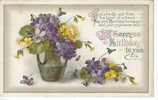 1922 Postmarked Birthday Postcard LANSING to GRAND RAPIDS MI MICHIGAN
