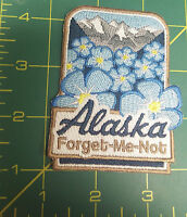 New Beautiful Alaska Forget Me Not Embroidered patch - Combine & Ships worldwide