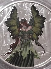 Colorized Amy Brown collection 1 oz .999 silver Proof lady of the forest fairy