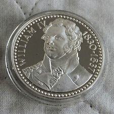 William IV 1765 -1837 32mm caracteriza medalla de plata prueba