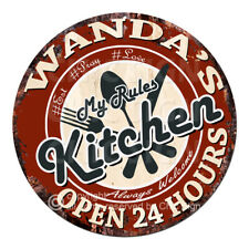 CWMK-0087 WANDA'S KITCHEN Rules Tin Sign Mother's Day Christmas Gift For Woman