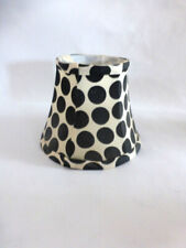 Black & Cream Dot Fabric Chandelier Shade Lined Clip on