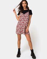 MOTEL ROCKS Sanna Slip Dress in Floral Charm Red  Size Small S   (mr6)