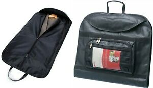 Falcon Balmoral Luxury Leather look Black Suit Carrier Travel Garment Bag