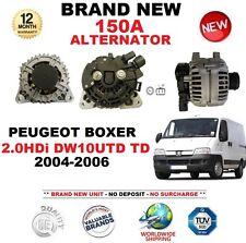 PARA PEUGEOT BOXER 2.0HDi DW10UTD TD 04-06 150A ALTERNADOR con EMBRAGUE POLEA