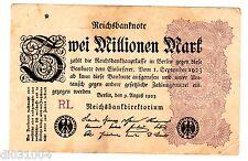 Allemagne GERMANY REICHSBANKNOTE BILLET 2 MILLION MARK 1923 P104 WEIMAR REPUBLIC