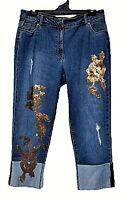 TS pants TAKING SHAPE VIRTU plus sz M / 20 Golden Boyfriend Jeans stretch NWT!