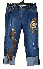TS pants TAKING SHAPE VIRTU plus sz M / 20 Golden Boyfriend Jeans stretch NWT!