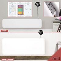 "600W, 800W & 1200W ""Mill"" Designer Electric WiFi Controlled Panel Heaters"