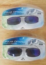 a375b506bf LOT OF 2 Polar Optics 48 rec 4 Polarized Full Frame clip on Sunglasses W.