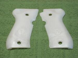 Custom Grips for Browning BDA 380 Pearl White