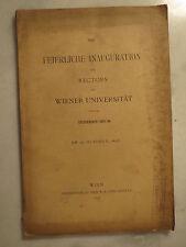 Wien - Universität - Feierliche Inauguration - 1893 - Tschermak