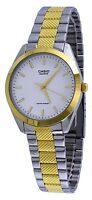 Casio MTP1274SG-7A Mens Two-Tone Stainless Steel Analog Dress Watch White Dial
