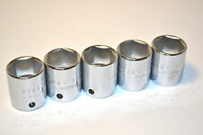 """5 NOS PROTO USA Professional 5226H 3/8"""" Drive 6 Point 13/16"""" SOCKETS #K117"""