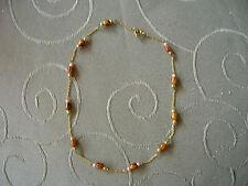 Halskette 39cm Edelstein Tigerauge und anderen Steinen