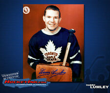 Harry Lumley SIGNED Maple Leafs 8X10 Photo -70072