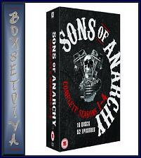 SONS OF ANARCHY - COMPLETE SERIES SEASONS 1 2 3 & 4 *BRAND NEW DVD BOXSET   ***