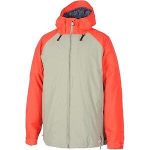 Mens Volcom Industrial Insulated Snow Ski Snowboard Jacket Moss Beige Red XXL