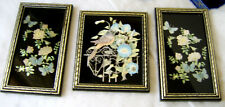 Butterfly and Flowers Foil pictures w/ Black Frames by Pencricket Fine Art Co.
