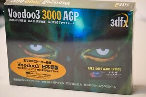 3dfx Voodoo 3 3000 AGP Graphic Card New Sealed In Box Japan Edition