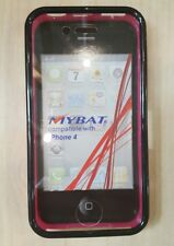 IPHONE 4 COVER/CASE WITH BUILT-IN SCREEN BLACK AND PINK NEW