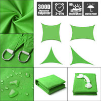 Sun Shade Sail Outdoor Patio Top Canopy Cover 98% Anti-UV Waterproof Green New