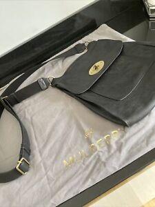 mulberry Large Black  antony messenger bag