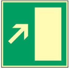 Schild Fluchtweg Rettungsweg rechts Treppe aufwärts HIGHLIGHT Alu 14,8 x 14,8cm