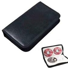 80 Disc CD Holder DVD Case Storage Wallet VCD Organizer Faux Leather Bag Holder