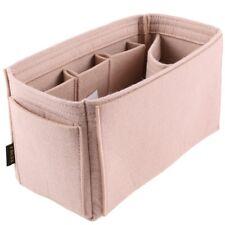FHQSX Felt Handbag Insert Organizer Multi-pocket Bag Tote Purse Diaper L Beige