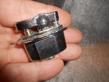 Vintage Small Oval Japan Chrome Finish Table Lighter Insert New Old Stock