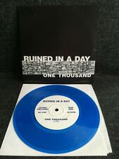 "Ruined In A Day – One Thousand / Breathing Room 7"" BLUE VINYL Hardcore Emo"