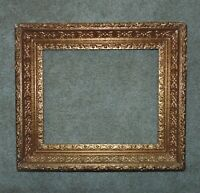"19th c. Baroque Style Gilt Wood & Gesso Antique Picture Frame 14 1/4"" x 17 1/4"""