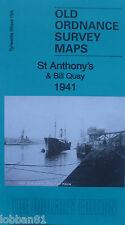 OLD ORDNANCE SURVEY MAP  ST ANTHONY'S & BILL QUAY  TYNESIDE 1941 SHEET 19A