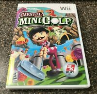 Carnival Games: Mini-Golf (Nintendo Wii, 2008) Complete w/ Manual - Tested