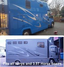 Horsebox graphics stickers stripes horse Iveco lorry & 3.5T  Vauxhall movano