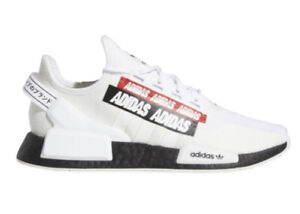 Adidas Original NMD R1. V2 White/Red/Black Men's Casual Shoes (Sizes 8-12)