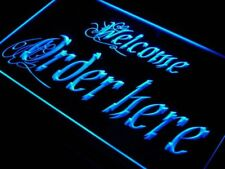 j695-b Welcome Order Here Display Shop Neon Light Sign