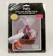 Shrink Wrap Plastic Bags Pkg 30 x 24 Lot of 2 NEW With Ribbon 4 Gift Baskets