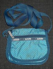 LE SPORTSAC BLUE POLKA DOT SMALL CROSS BODY PURSE SHOULDER BAG