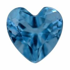 BLUE TOPAZ HEART LOOSE GEMSTONE 6MM .94 CT OCEAN BLUE GENUINE GEMSTONE HEART