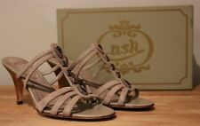 "Ash Italia Brown Taupe/Light Brown Suede/Leather ""Darling"" Heels EU39/UK 6"