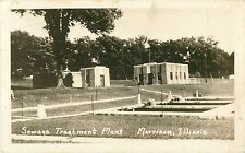 A View of the Sewage Treatment Plant, Morrison IL RPPC 1949